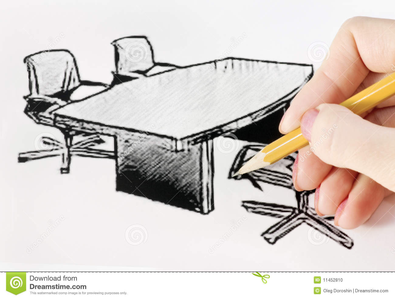 Drawing Office Furniture Stock Photo Image Of Model