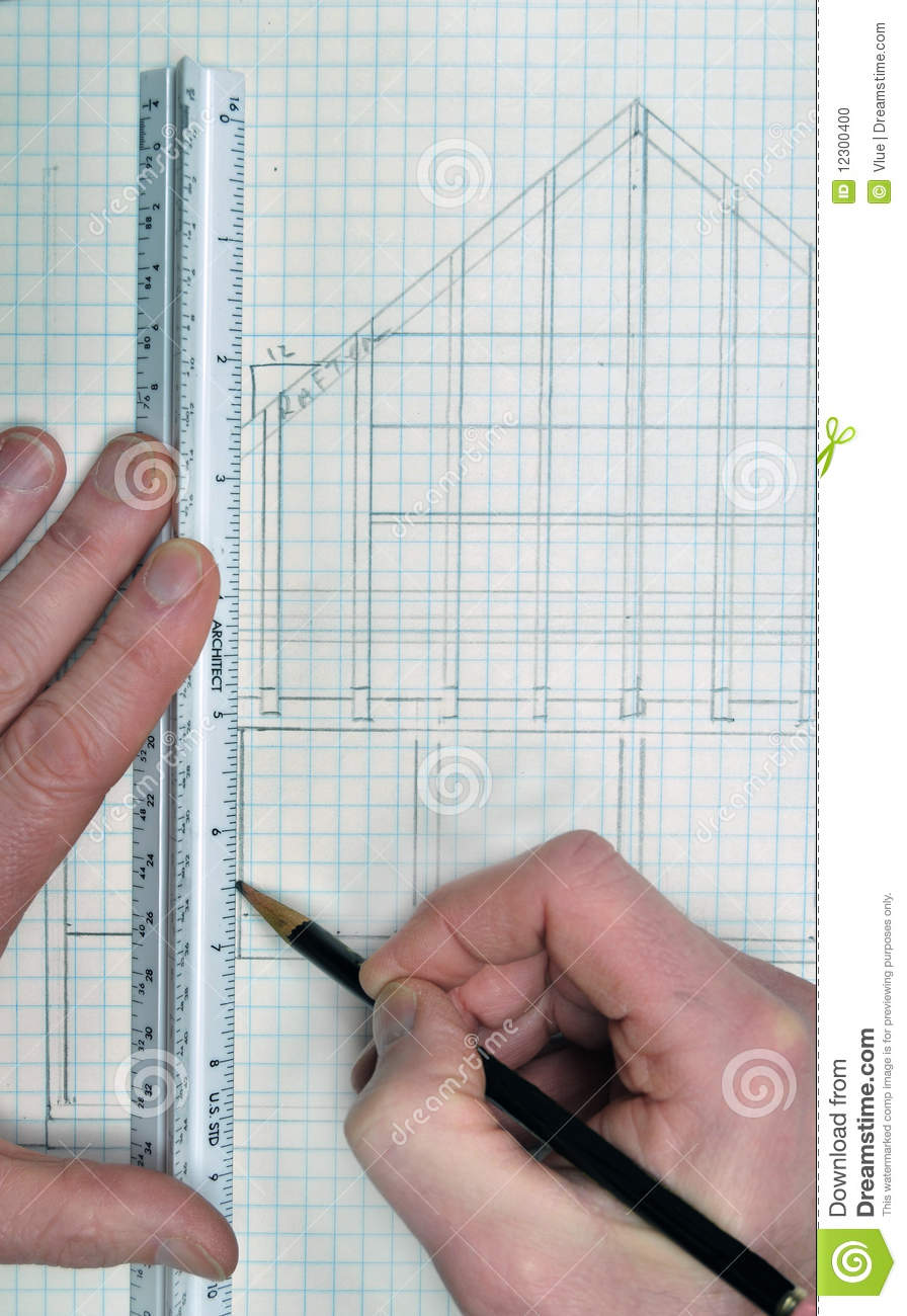 Drawing and planning for a house blueprint design stock photo download comp malvernweather Image collections