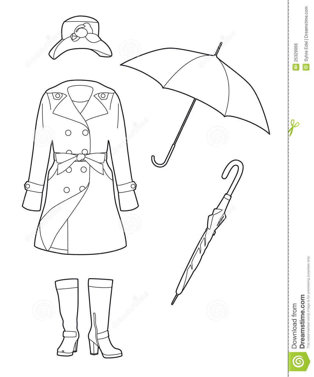 Drawing Rainwear Royalty Free Stock Image Image 25329966