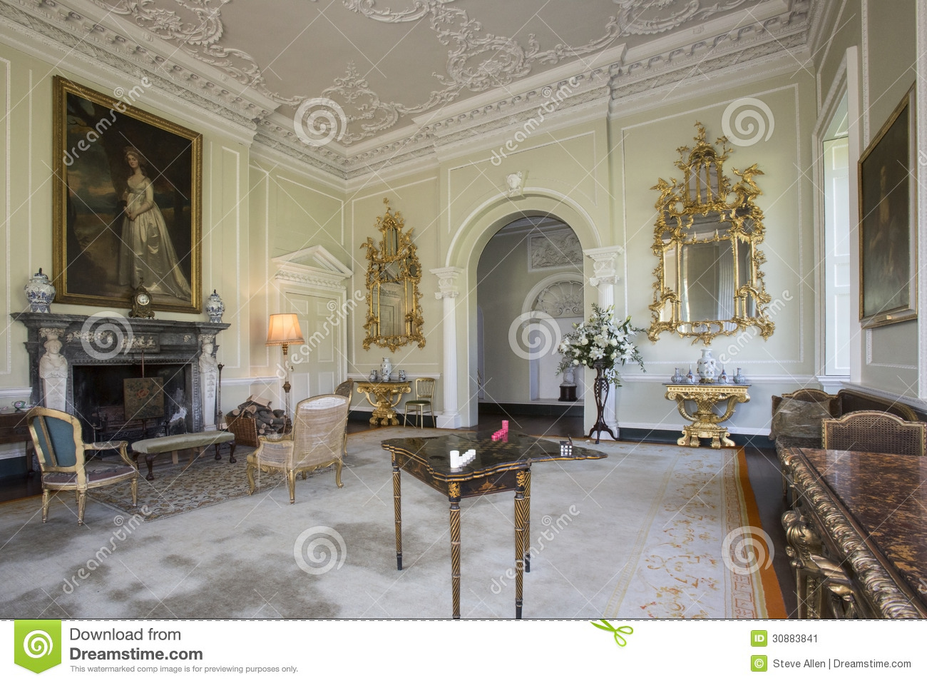 Drawing England Home House Interior Manor Room Stately ... Part 78