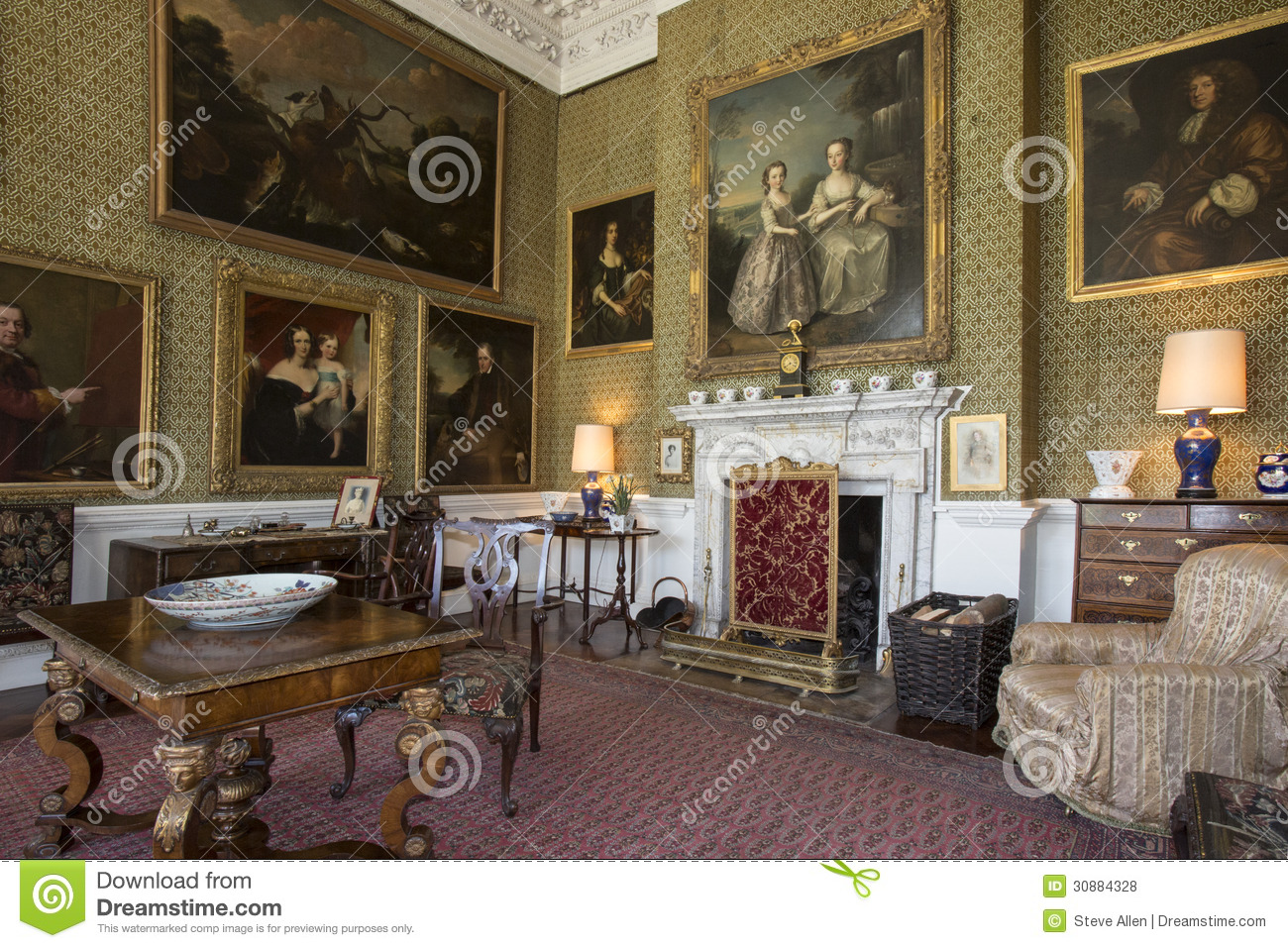 Drawing England Home House Interior Manor Room Stately ... Part 91