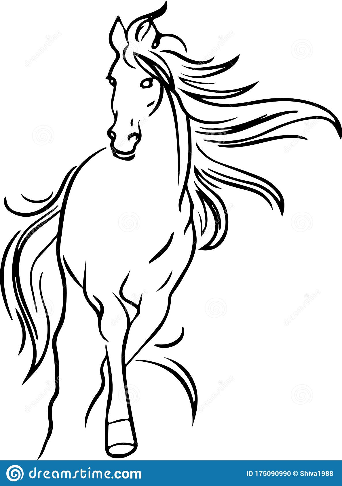 Running Horse Outline Stock Illustrations 1 974 Running Horse Outline Stock Illustrations Vectors Clipart Dreamstime