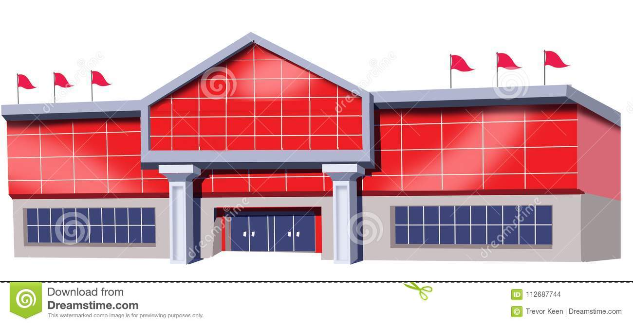 Download Drawing Of Shopping Mall Stock Illustration Store