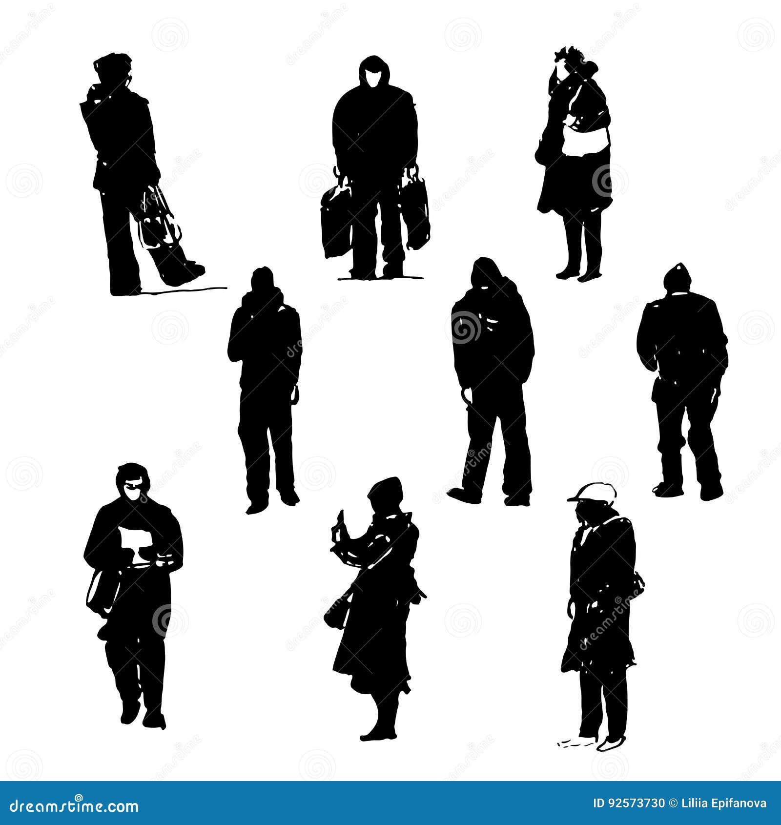Human Body Silhouettes Vector Illustration