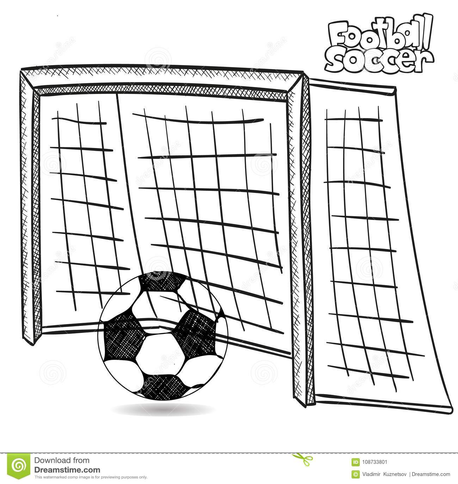 Ball drawing soccer stock illustrations 5 588 ball drawing soccer stock illustrations vectors - Comment dessiner un but de foot ...
