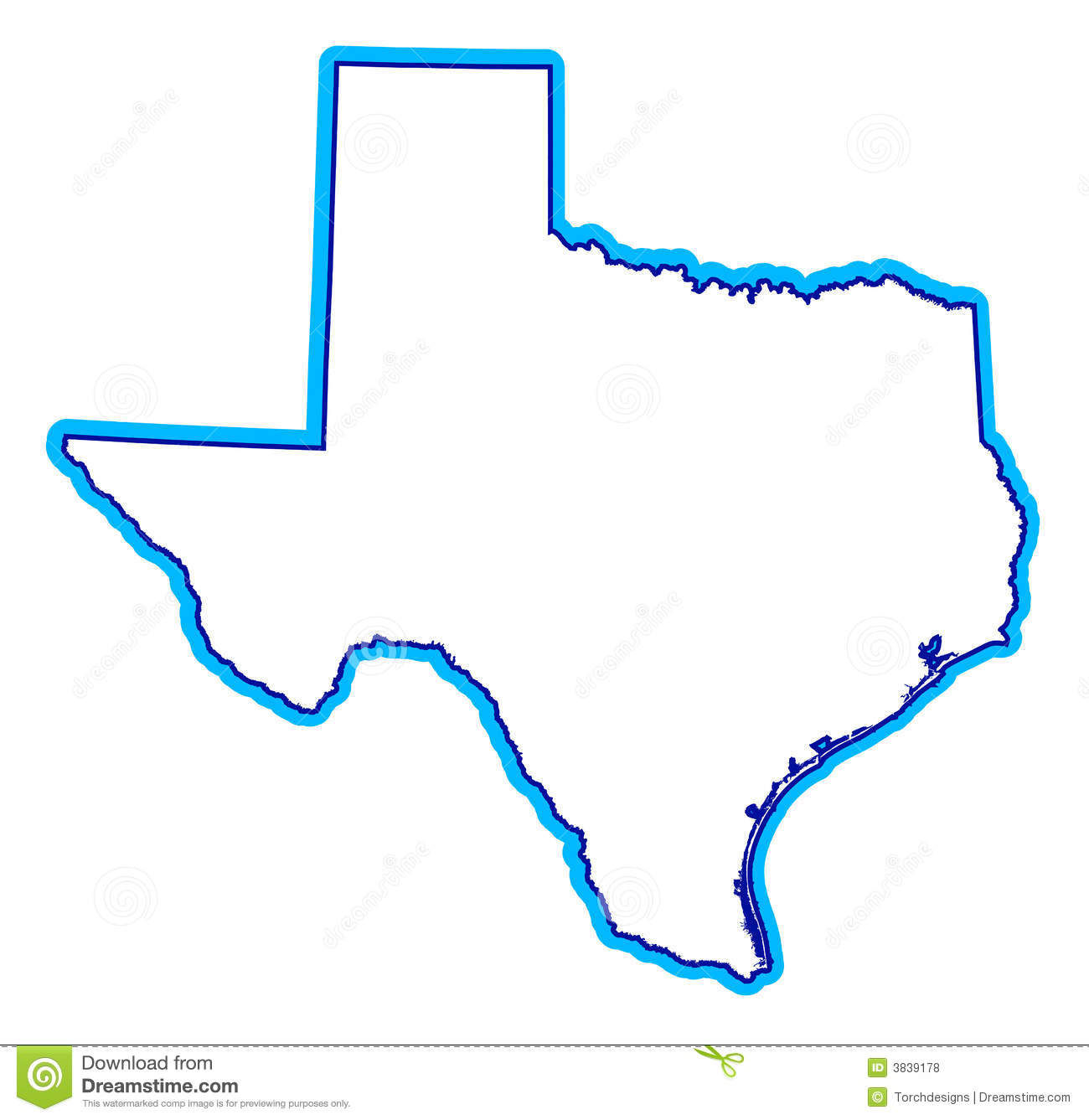 drawing of state of texas stock vector illustration of artistic