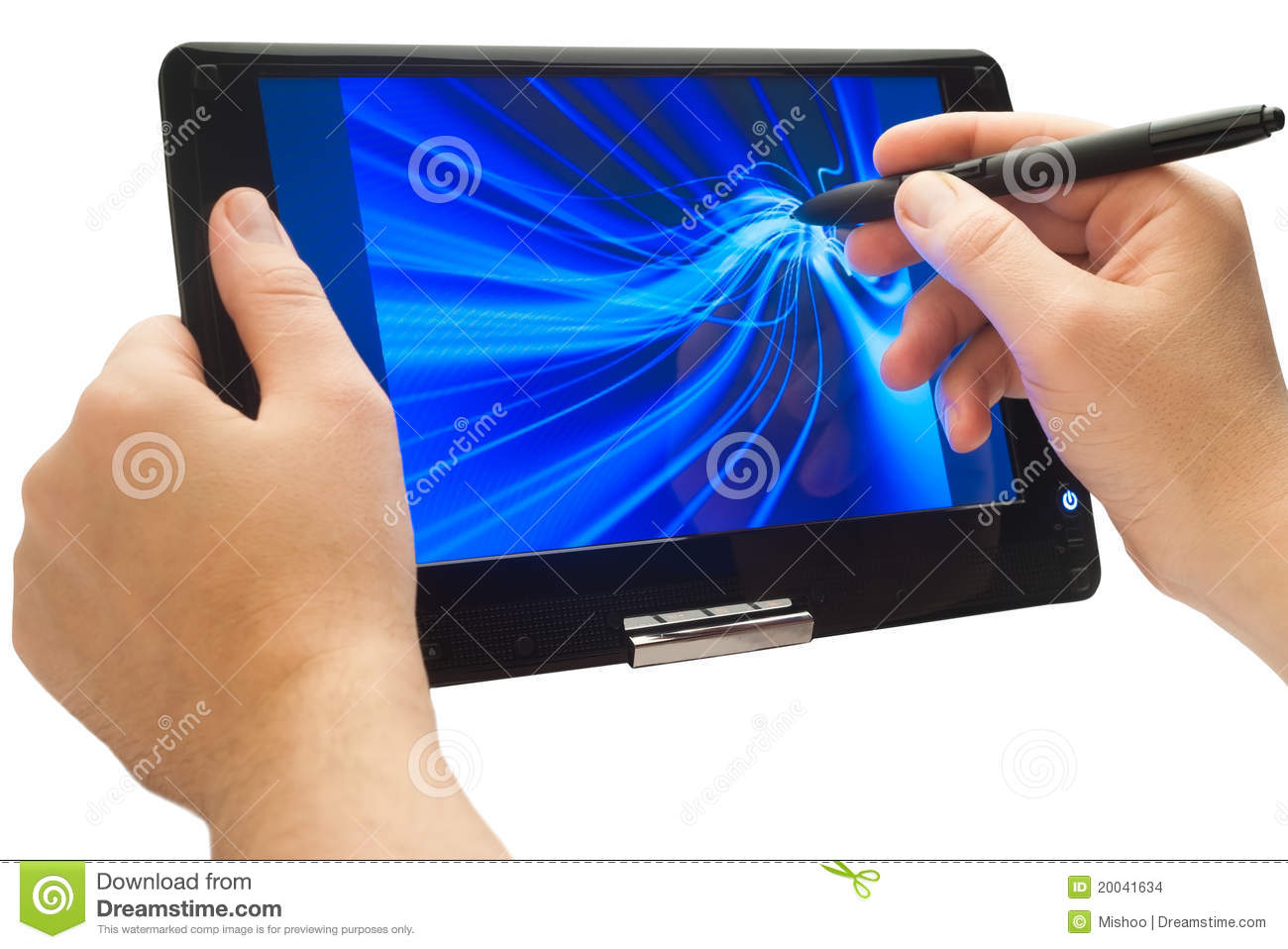 Drawing Lines With Tablet : Drawing on tablet pc stock images image