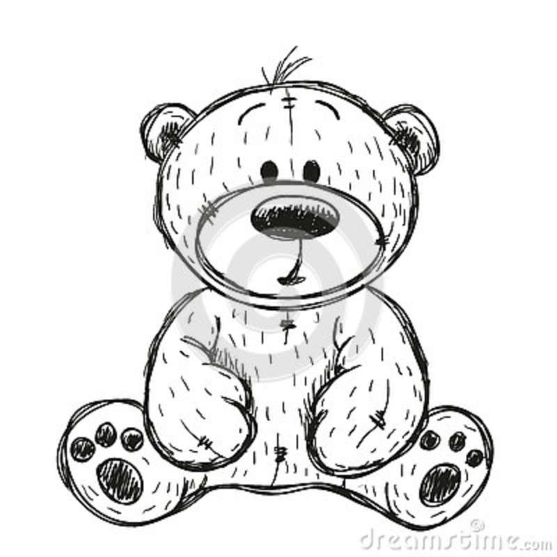 Drawing teddy bear stock vector illustration of children 78660270 - Dessins de nounours ...