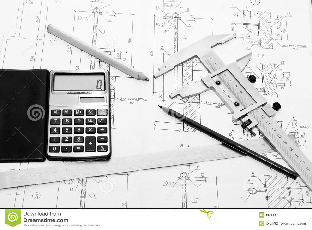 Drawing And Tool Stock Photo Image Of Office Idea Engineer