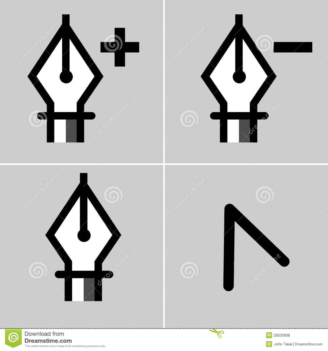 Drawing tool icon set stock vector illustration of for Draw tool free