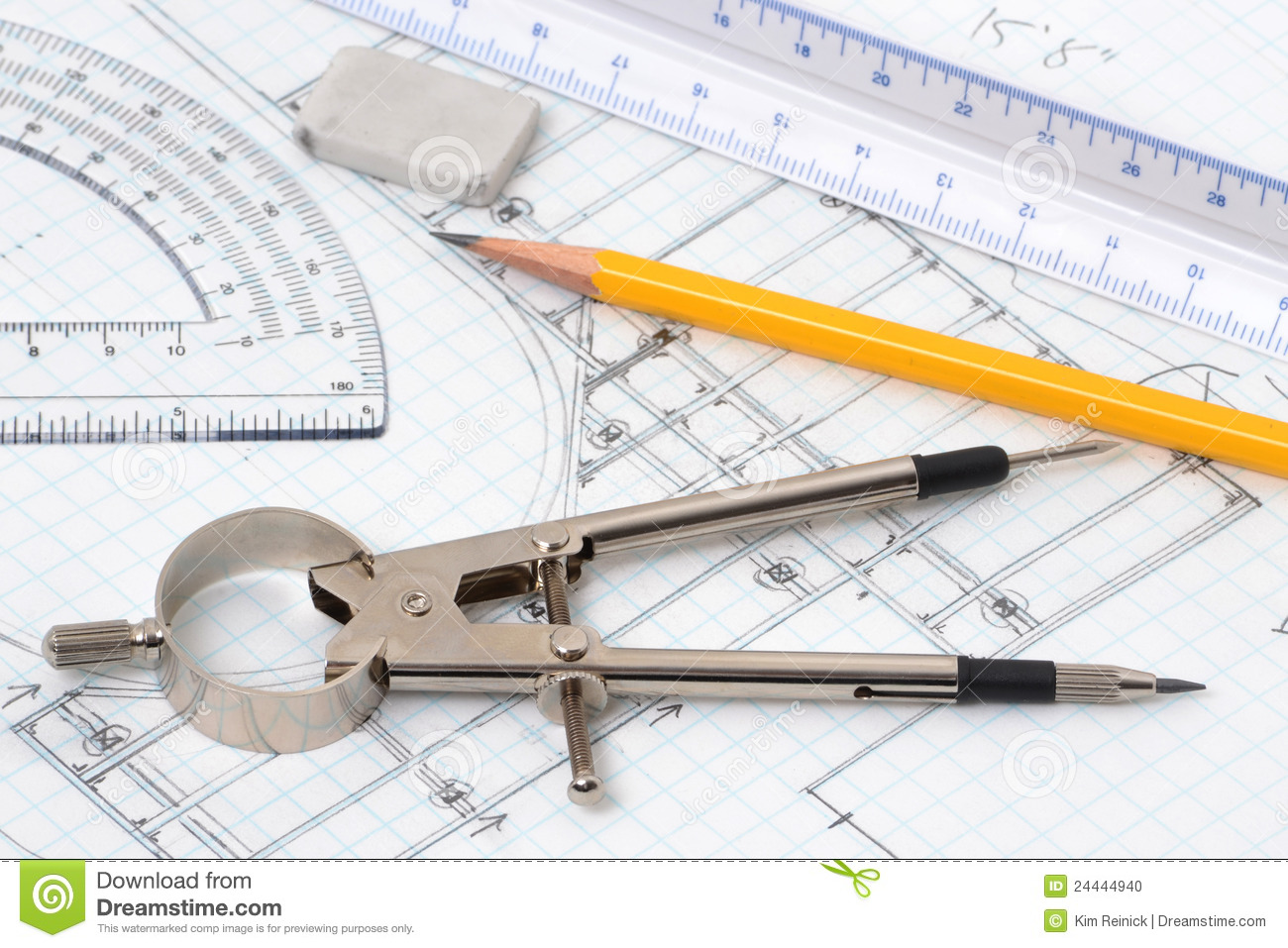 Drawing Tools Stock Photo Image 24444940