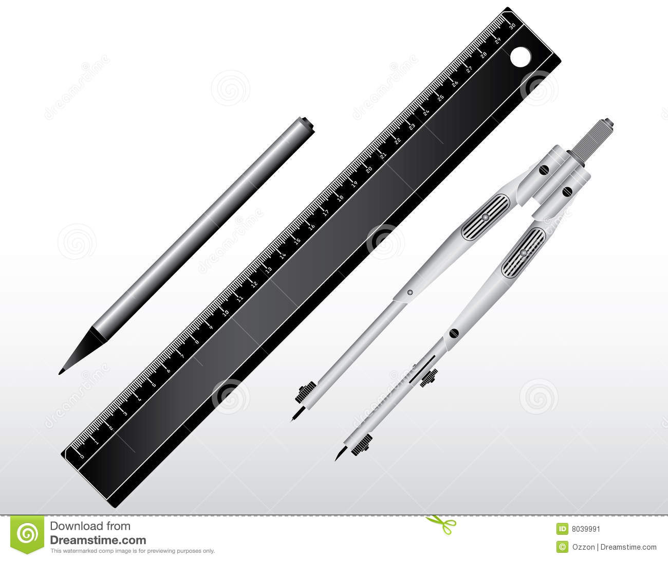 Drawing Tools Stock Image Image 8039991