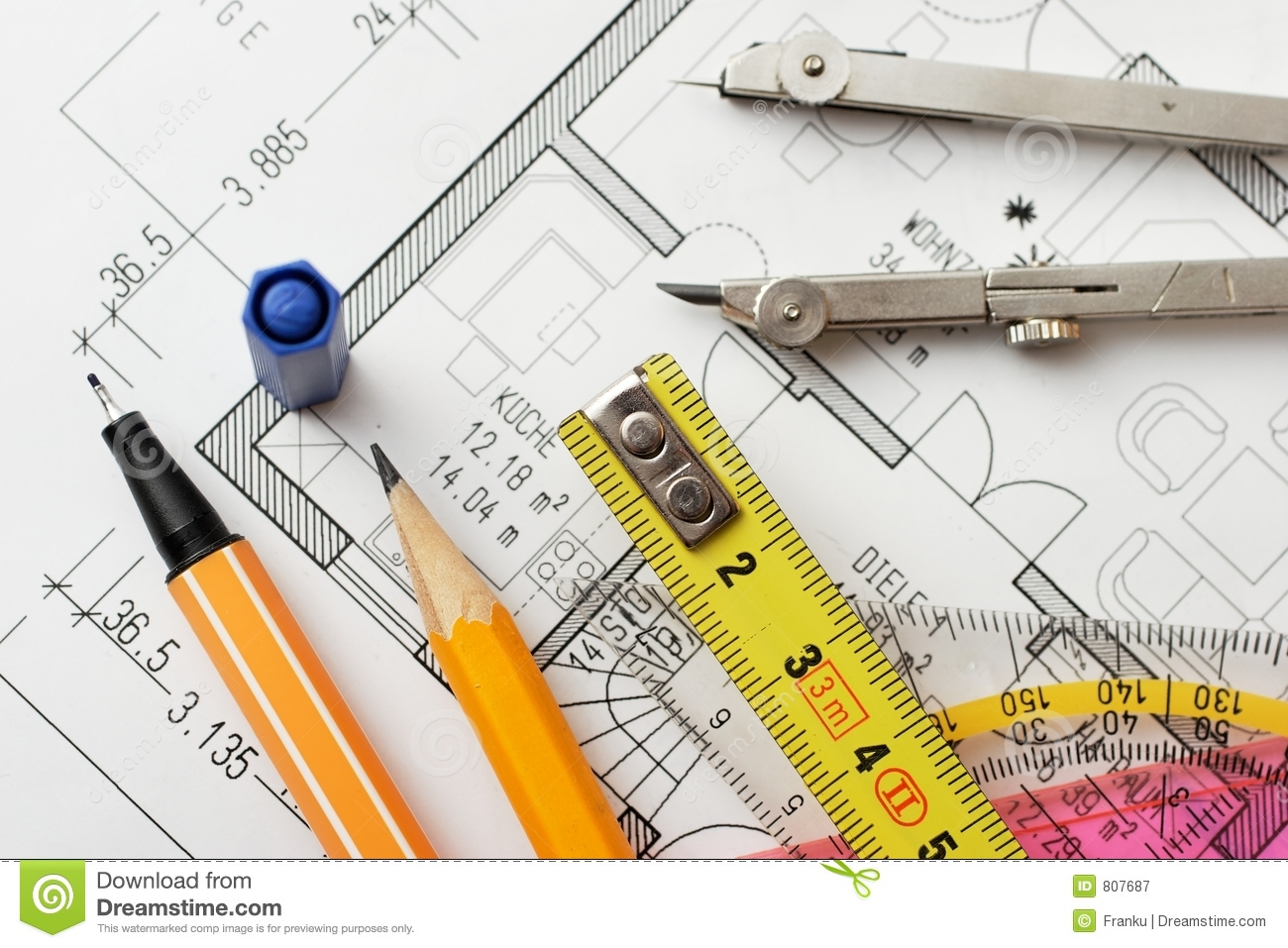 Drawing Tools Royalty Free Stock Photography Image 807687