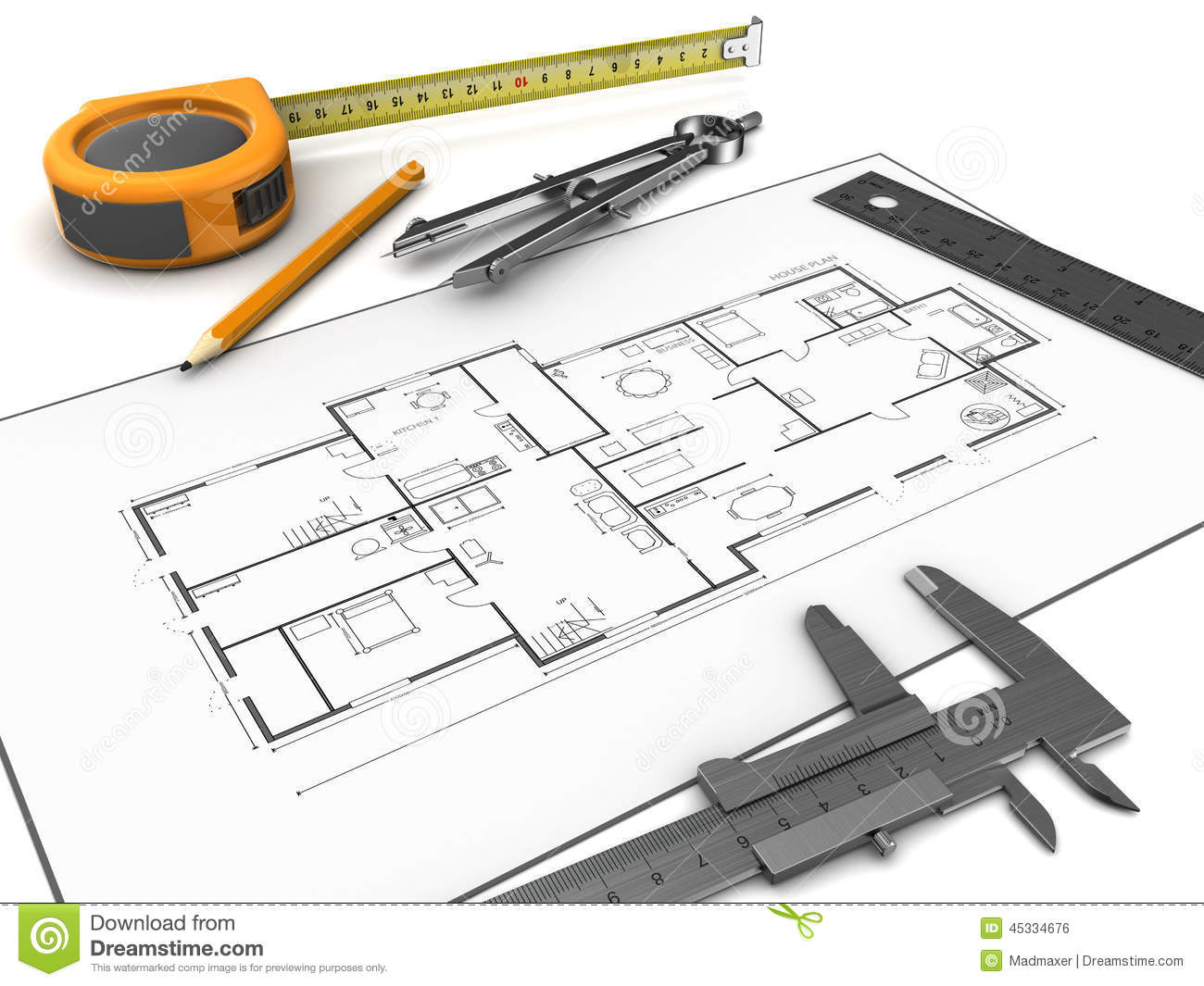 Drawing Tools Stock Illustration Image 45334676