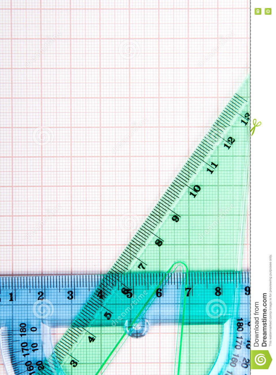 drawing tools on graph paper stock image image of graph blank