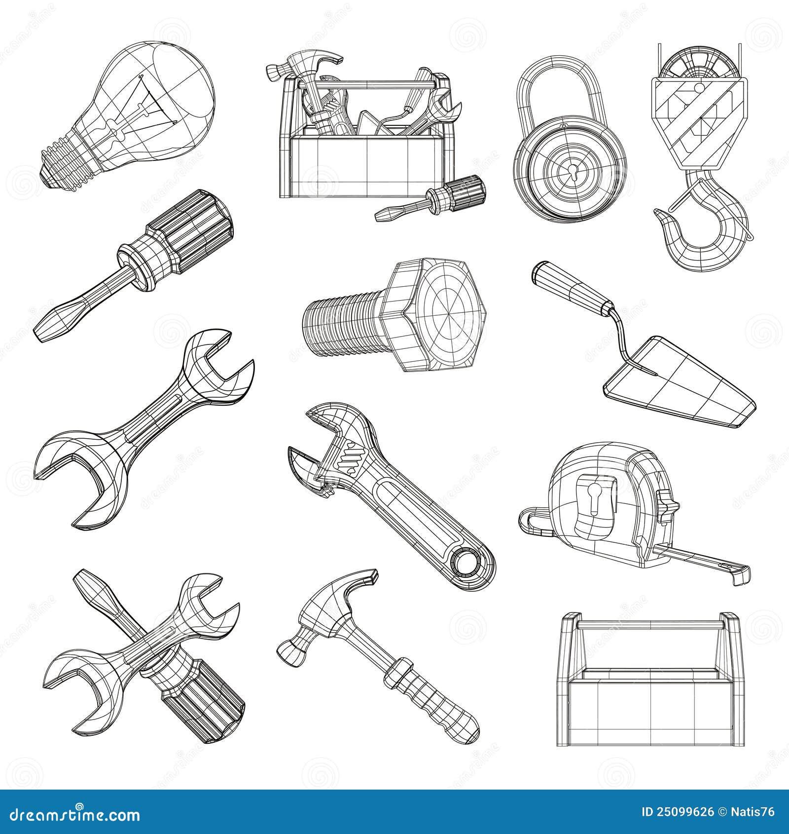 Drawing Tools Set Royalty Free Stock Image Image 25099626