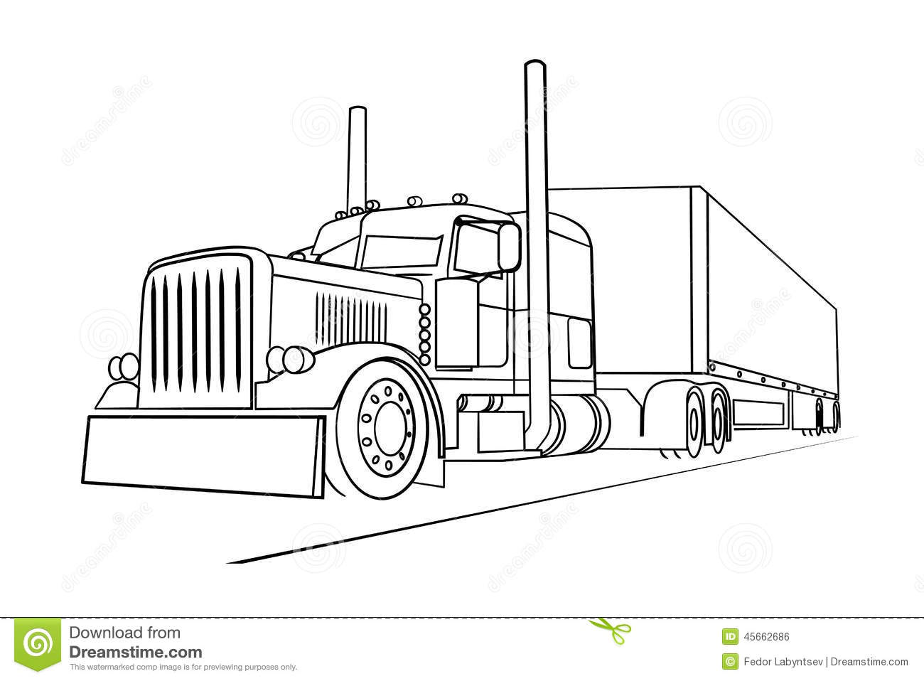 Stock Illustration Drawing Truck Transporting Load Image Presented Image45662686 on kenworth semi trucks