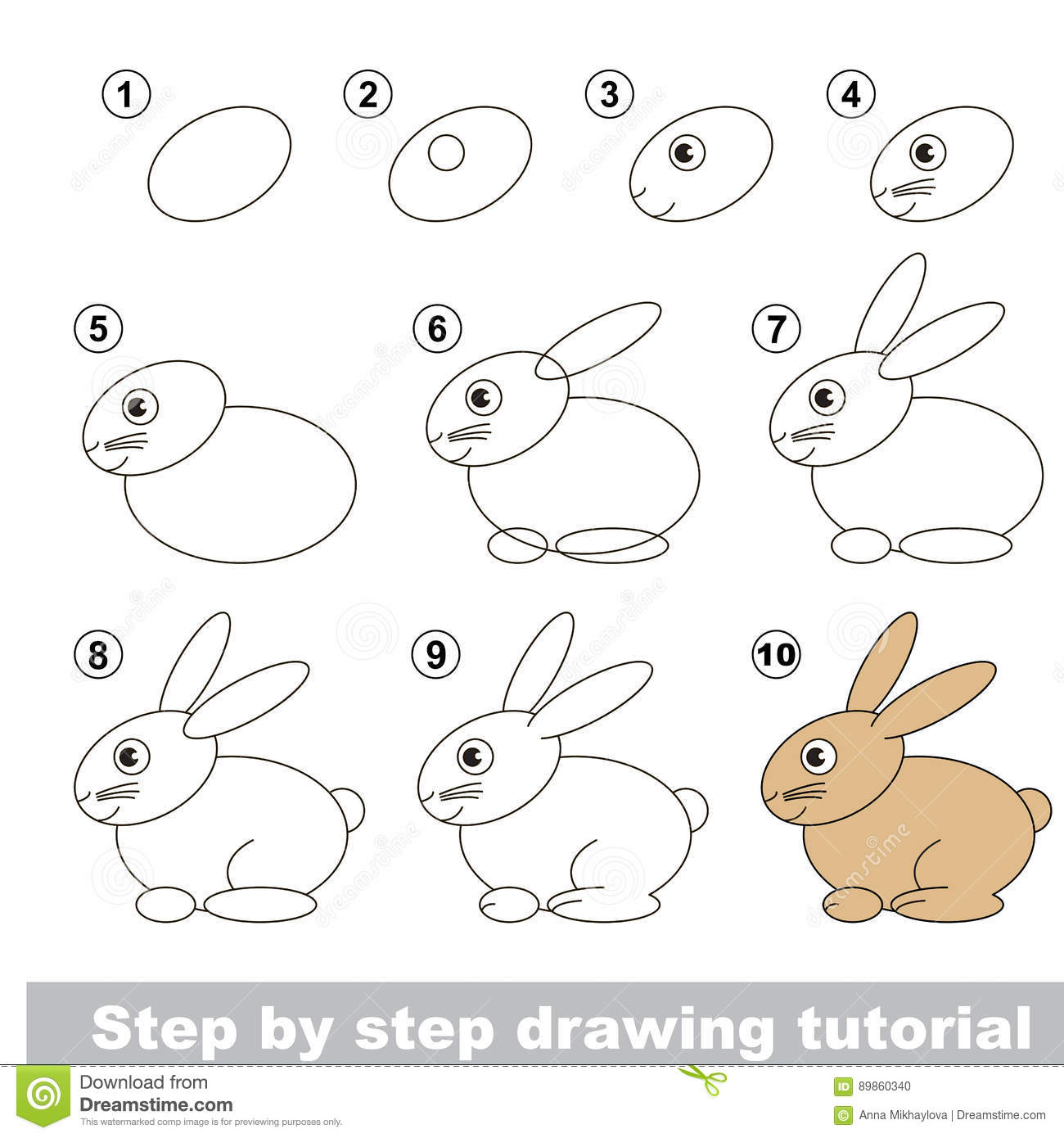 Drawing tutorial hare