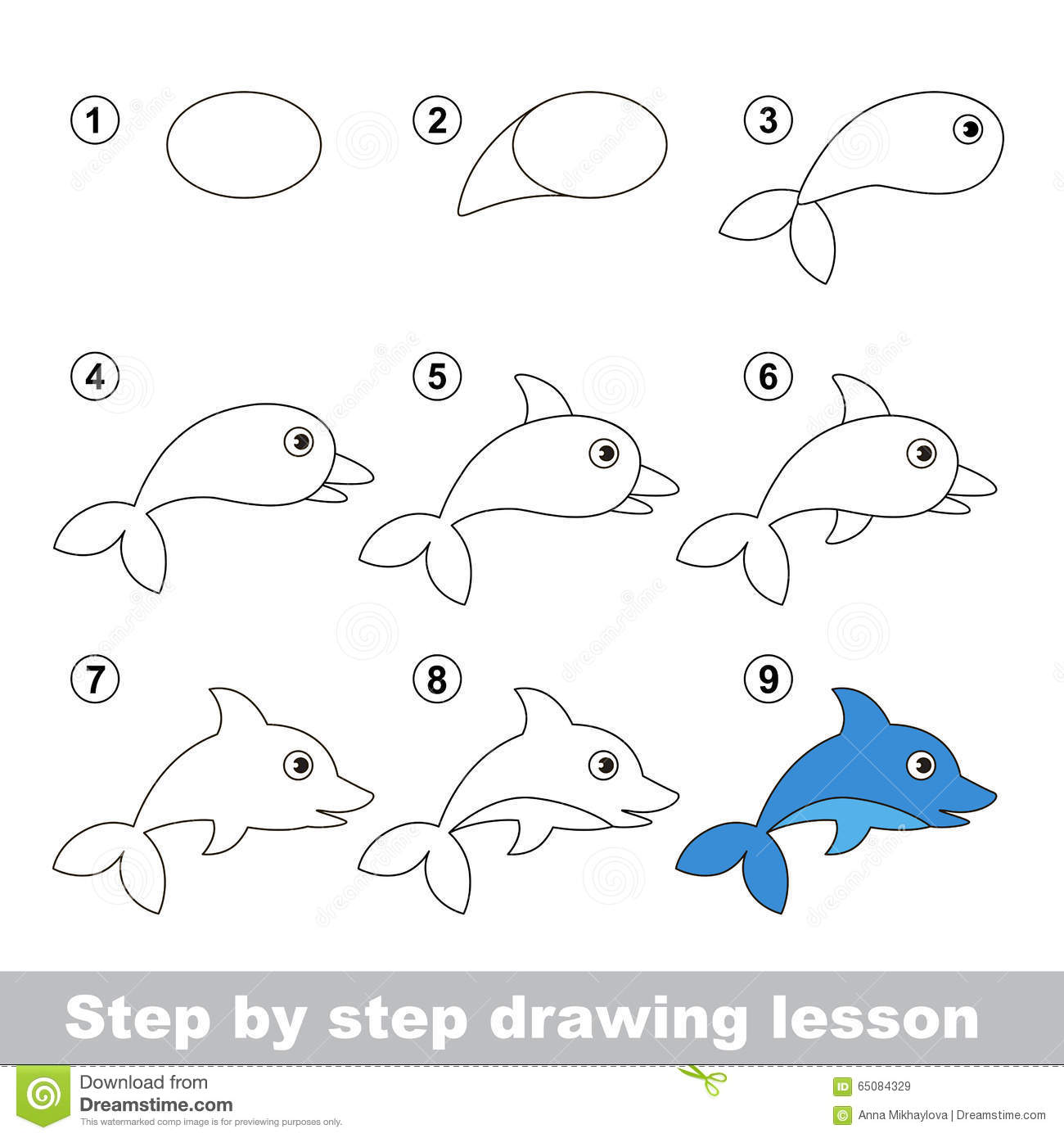 drawing tutorial how to draw a dolphin
