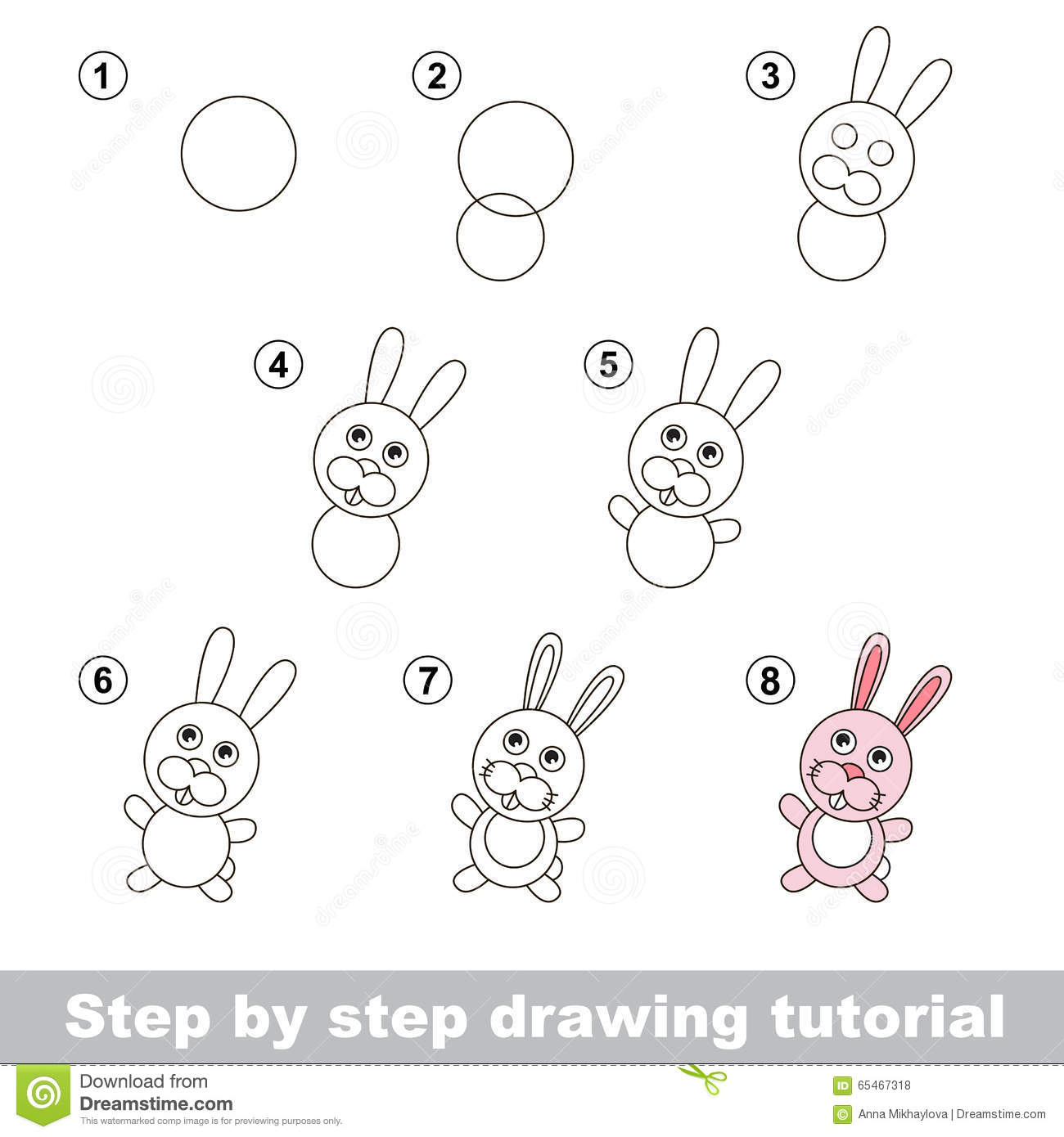 Drawing Tutorial How To Draw A Little Rabbit