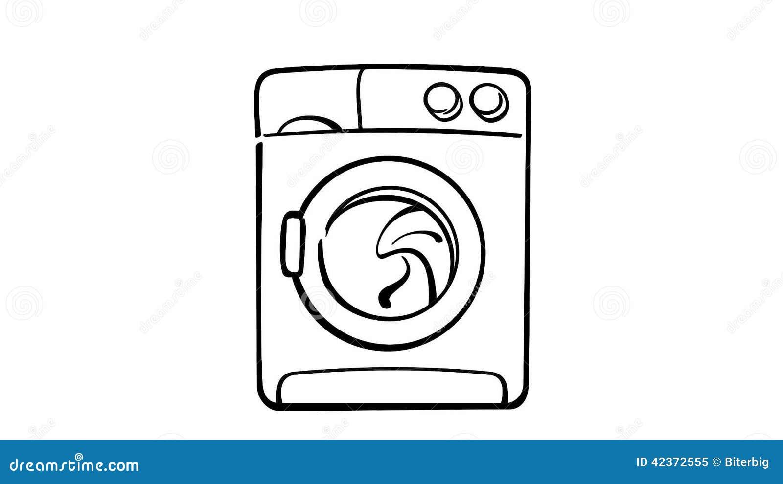 Washing Machine Drawing ~ Washing machine drawing figure a common leak locations