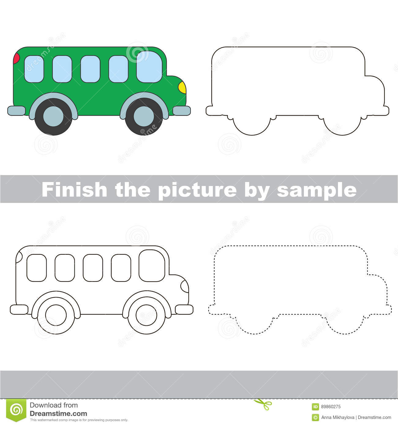 Drawing Worksheet For Toy Transport Stock Vector Illustration Of