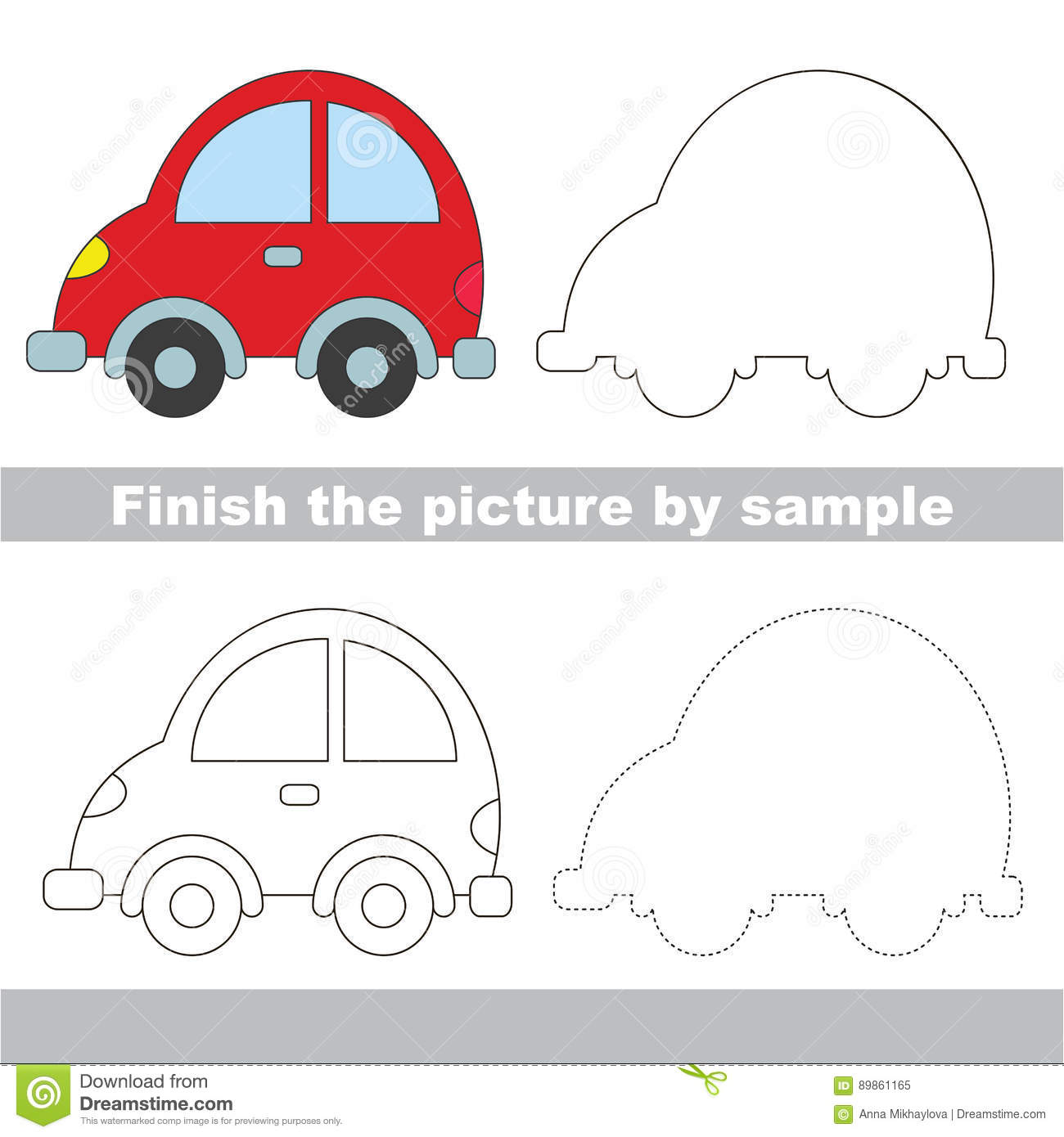 drawing worksheet for toy transport stock vector image 89861165