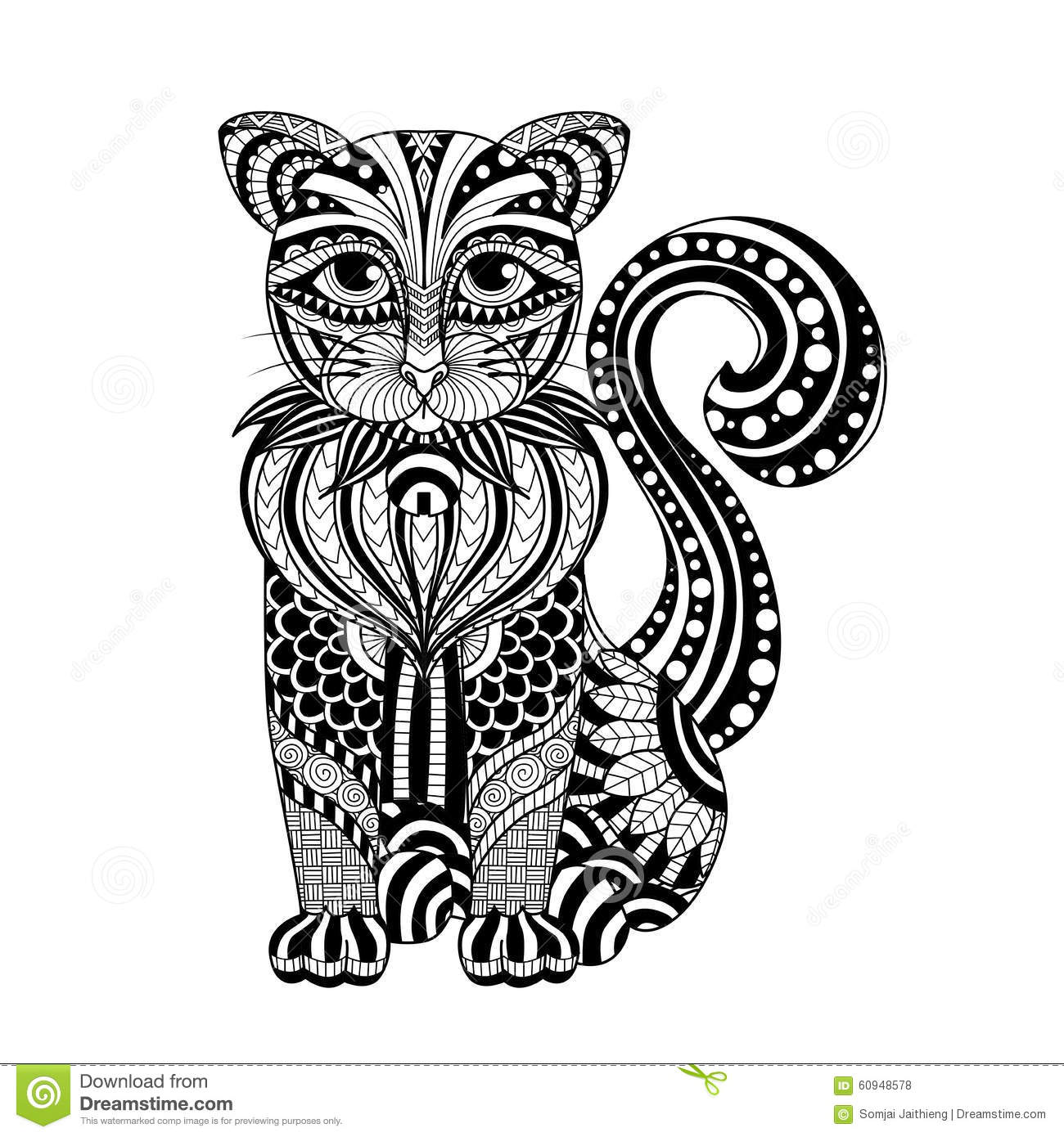 Free Coloring Pages Of Zentangle Lion