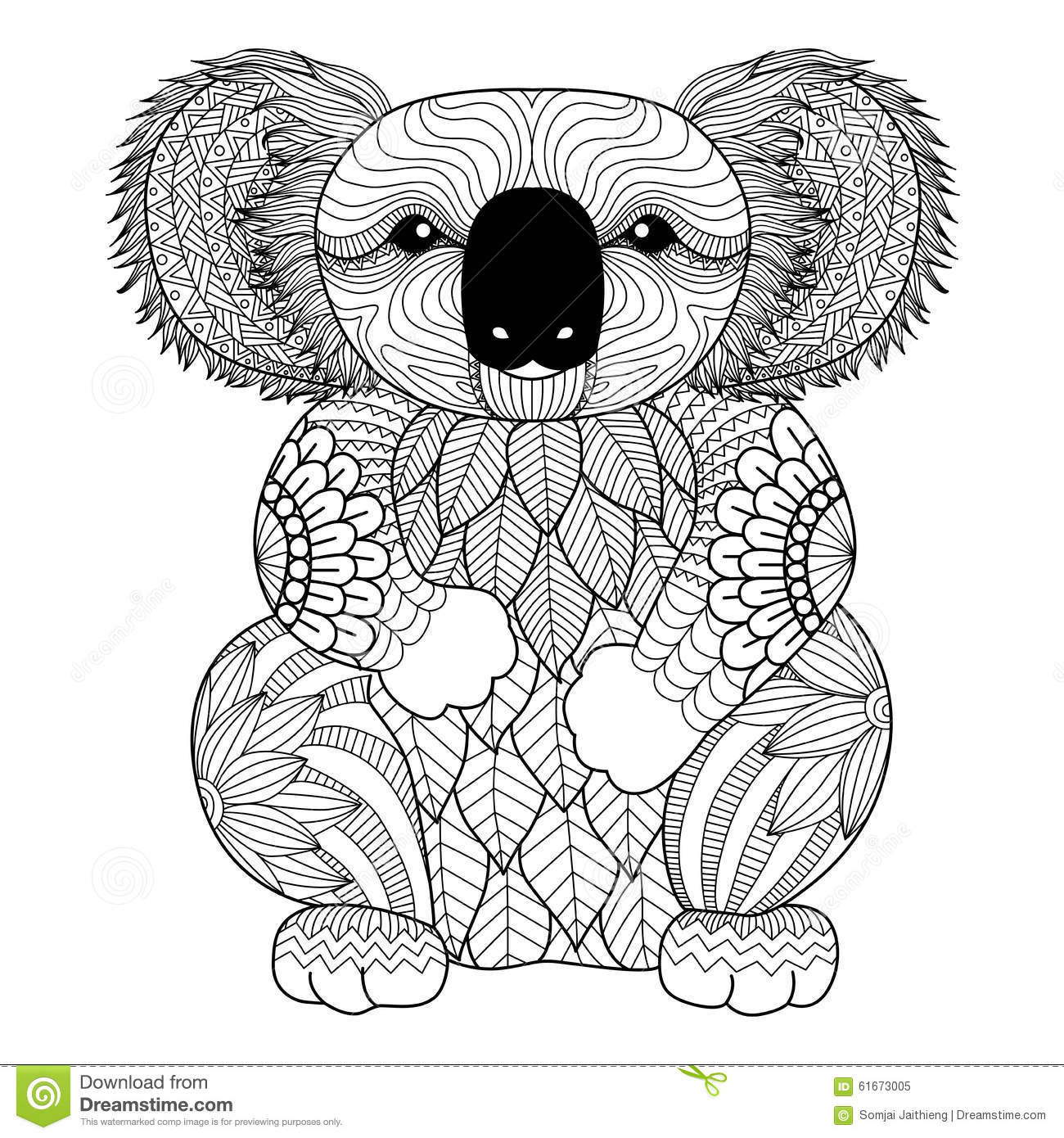 Koala Animales Coloring Pages