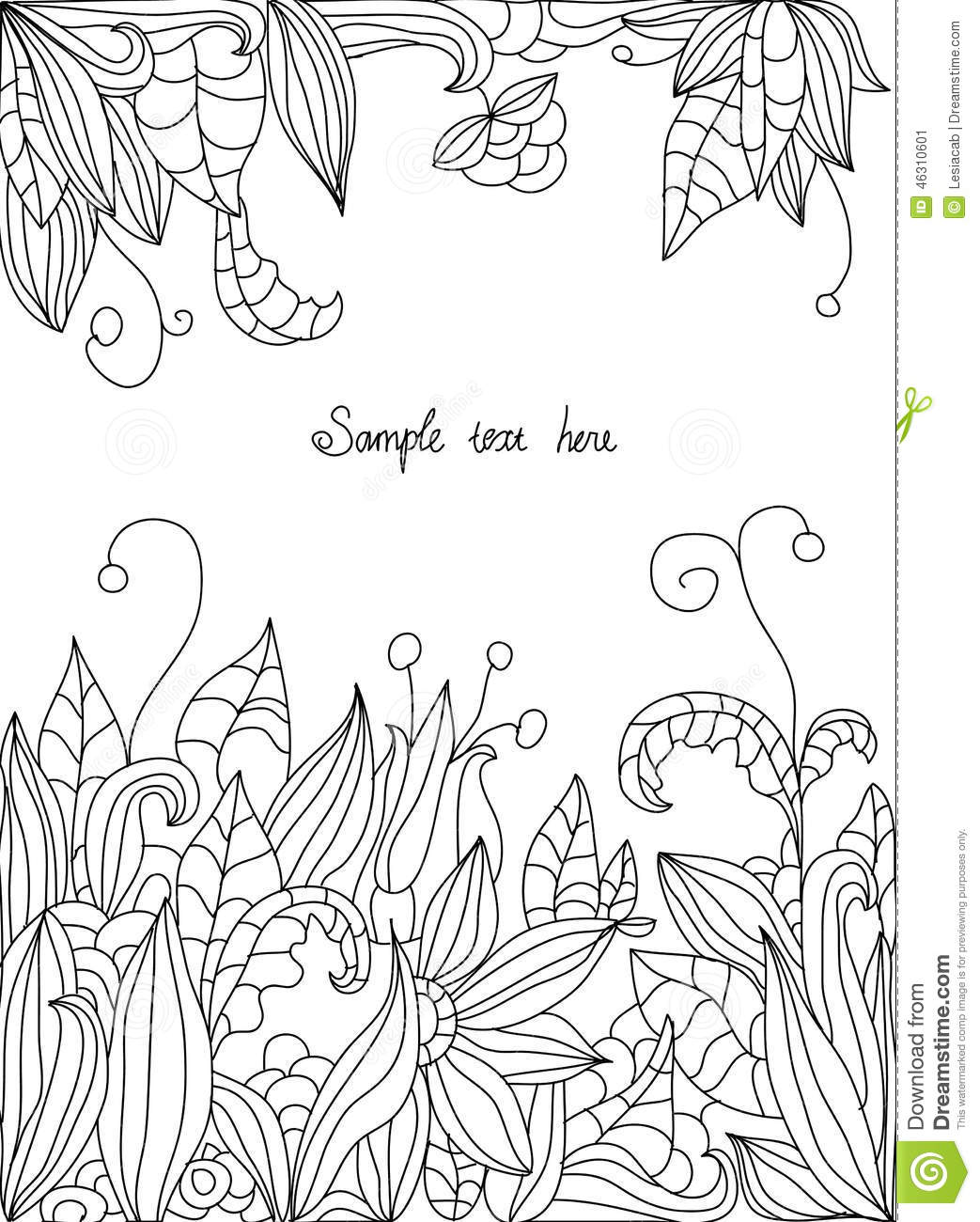 Beautiful Flower Line Drawing : Drawings of flowers leaves stock vector image