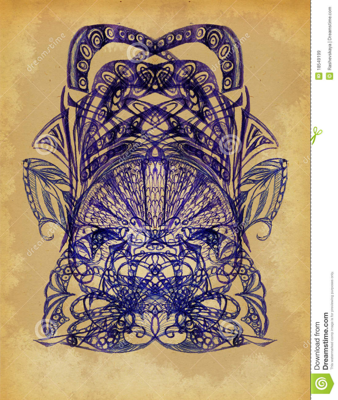 The drawn elements of decorative pattern
