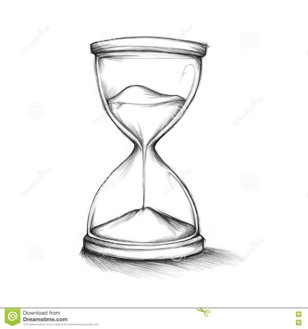 Hourglass drawing  Drawn Hourglass Stock Illustration - Image: 77030546