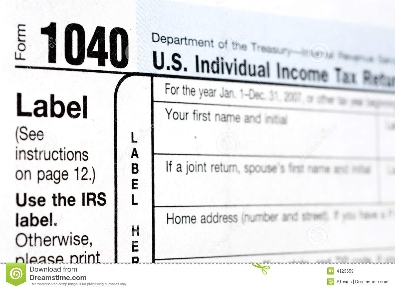 The dreaded 1040 form stock image image of refund government 4123659 the dreaded 1040 form falaconquin