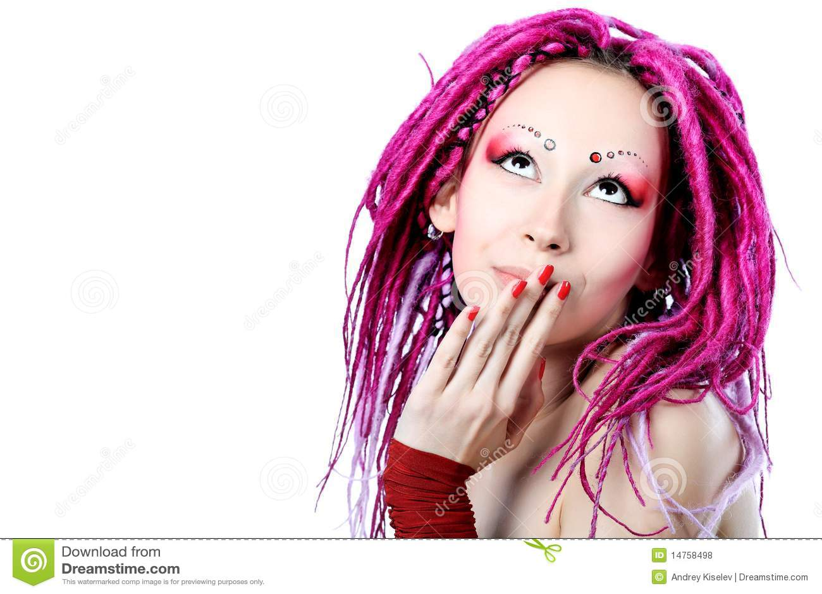 Dreadlocks rosados
