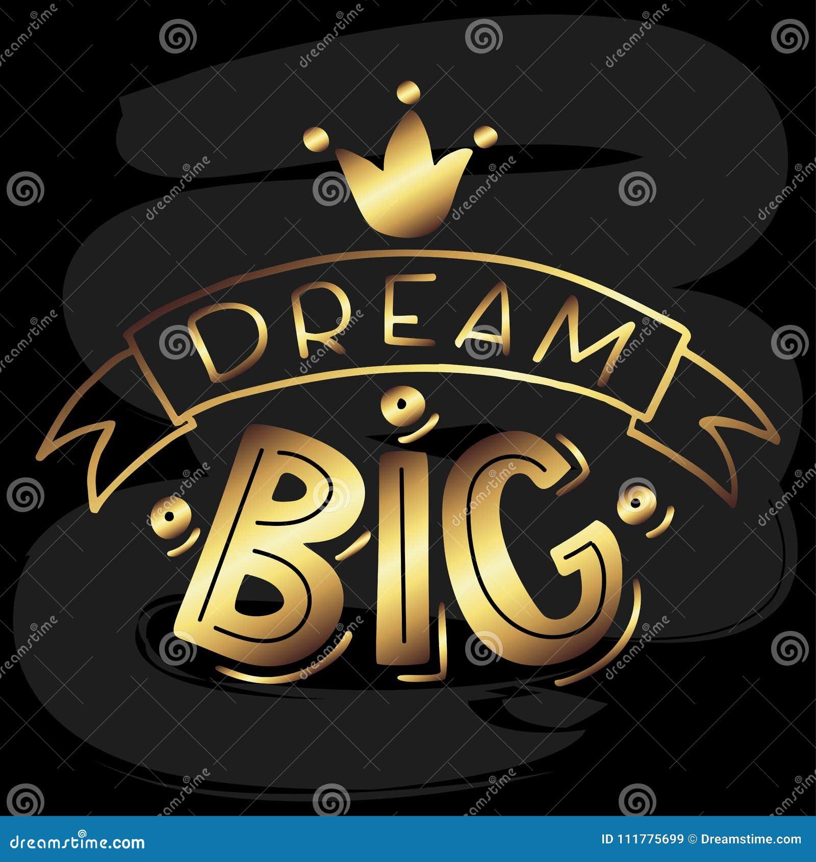 Dream Big Lettering on Chalkboard