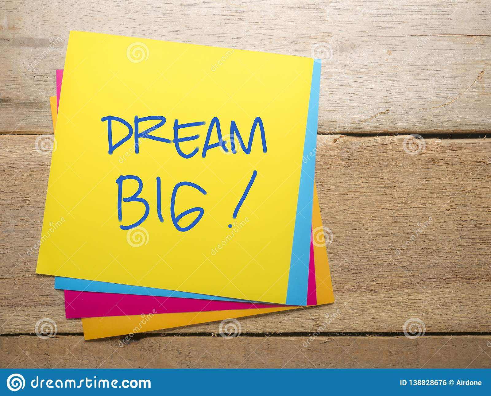 Dream Big, Motivational Business Words Quotes Concept