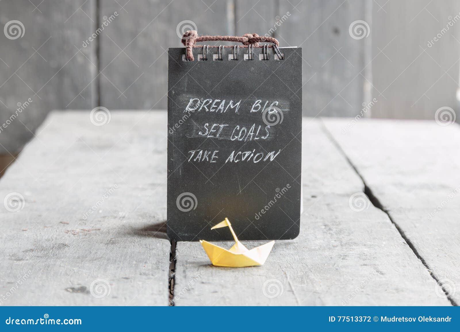 Motivational quotes dream quotes dream big quotes action quotes - Dream Big Set Goal Take Action Motivational Quote Stock Photo