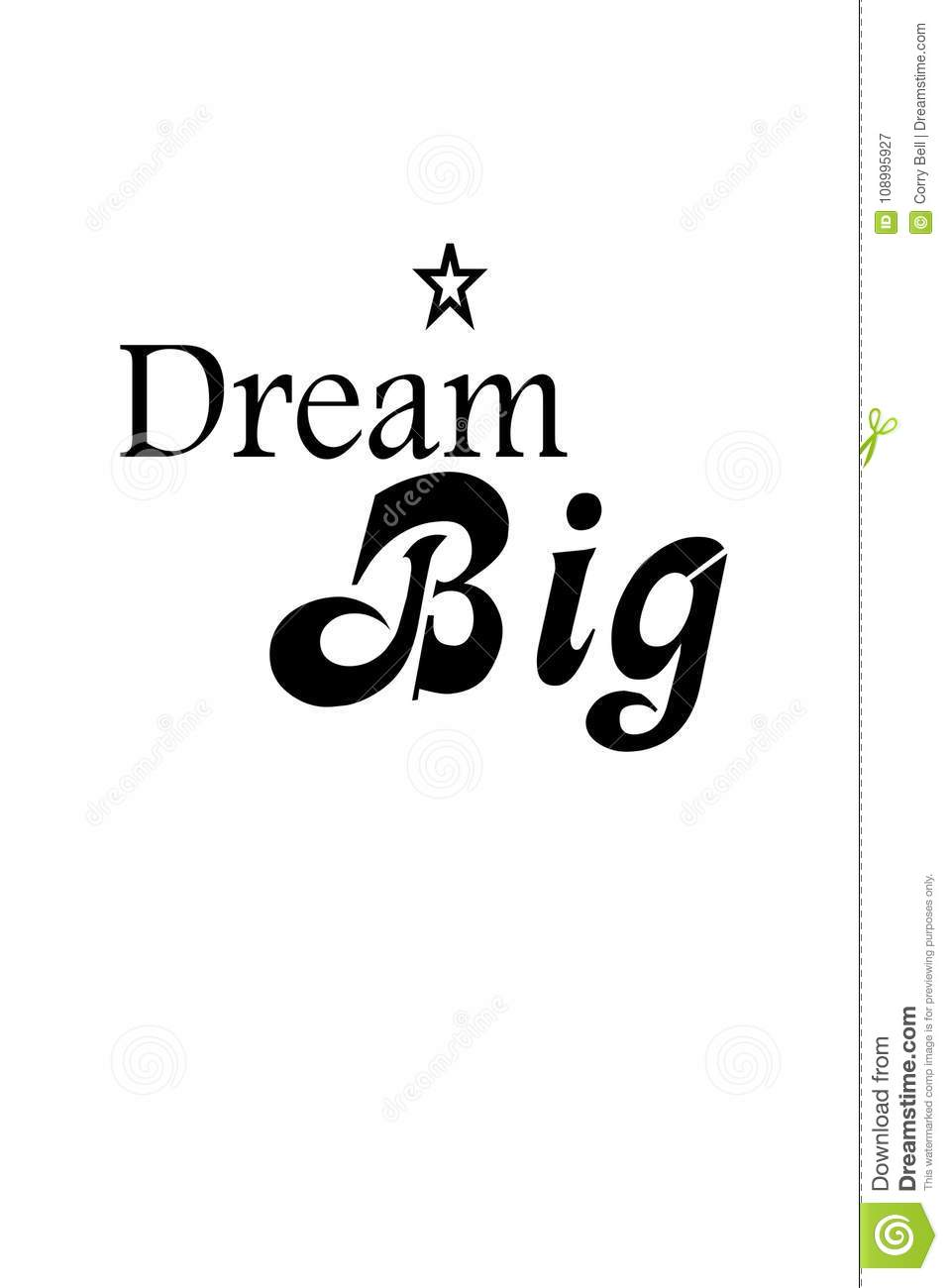 Dream Big Dreams Stock Vector Illustration Of Fulfillment