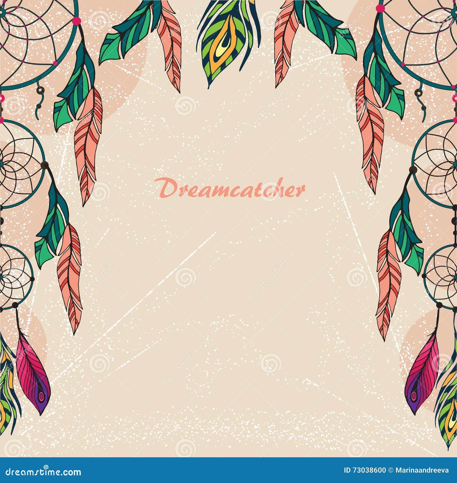 Color art dreamcatcher - Royalty Free Vector Download Dream Catcher Color
