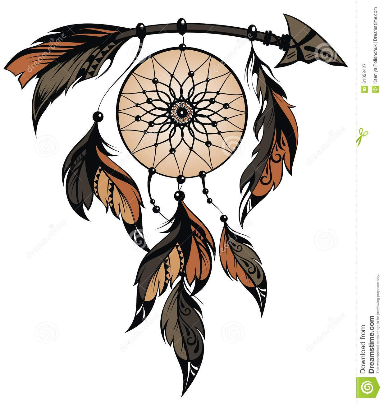 Dream catcher stock vector image 61058427 for Dream catcher graphic