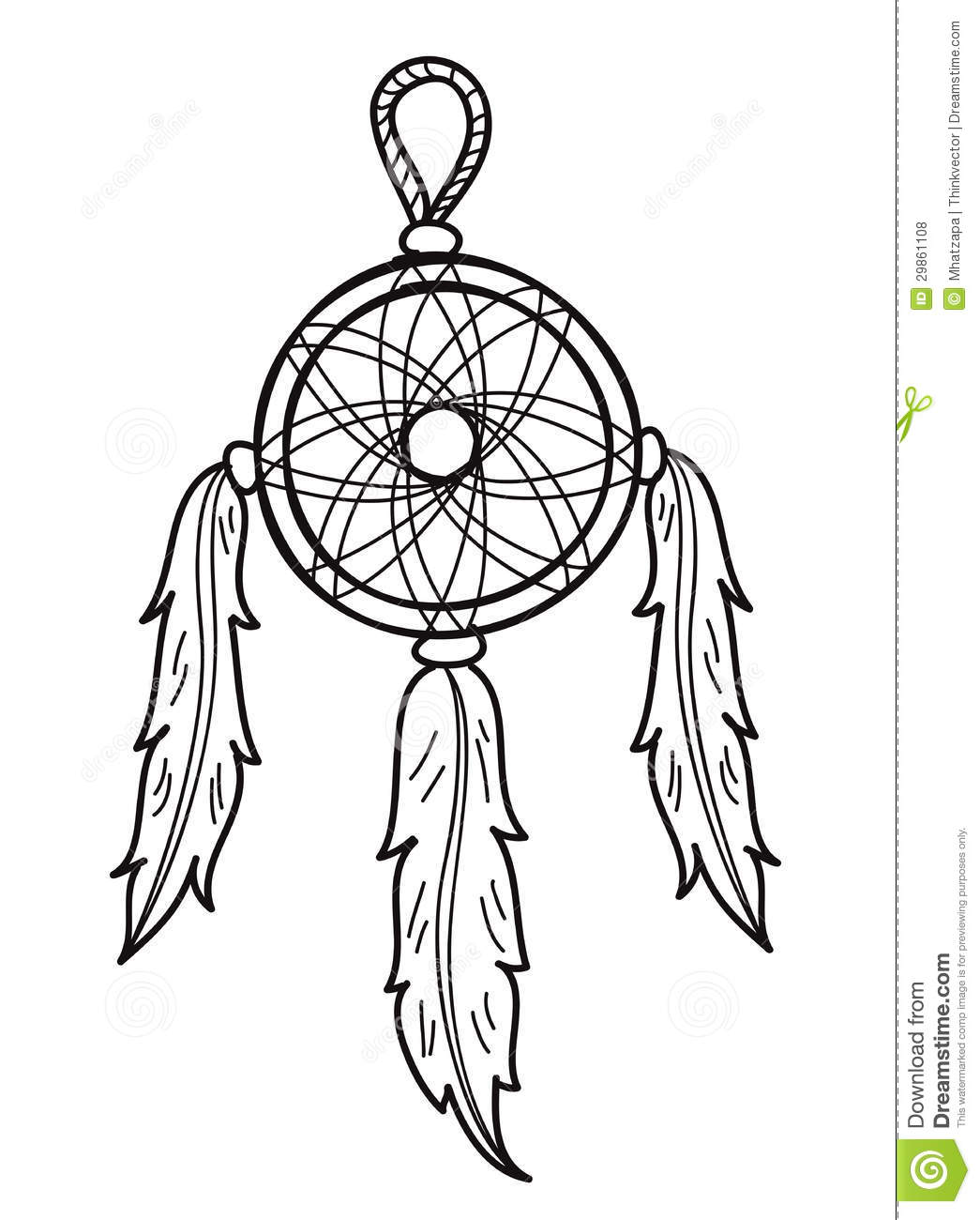 Dream catcher royalty free stock photos image 29861108 - Dreaming of the color white ...