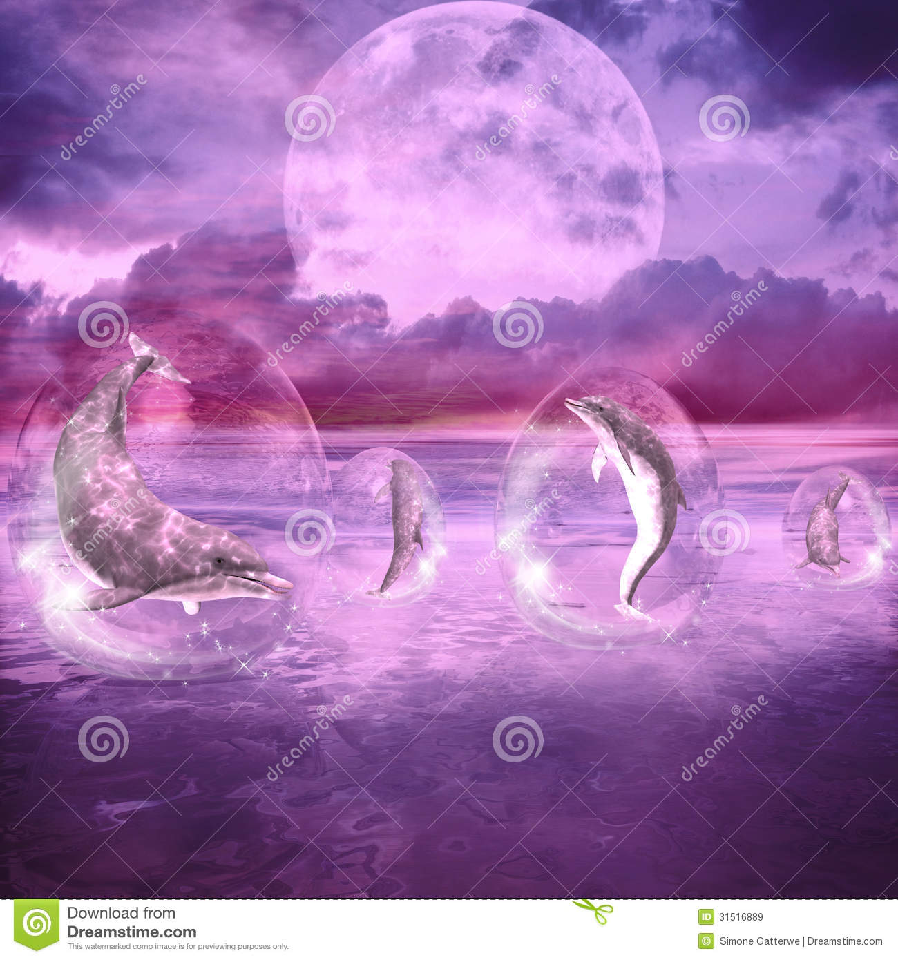 Dream Of Dolphins Royalty Free Stock Images