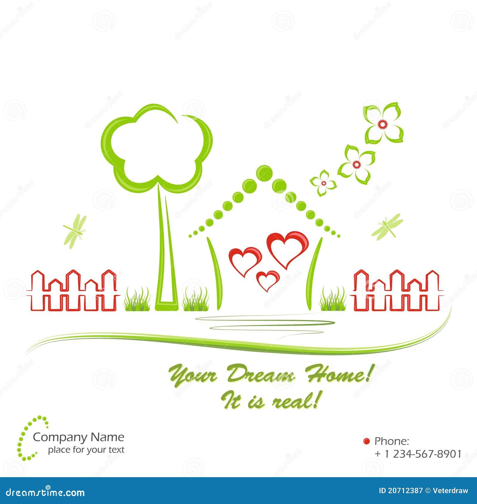 dream home vector illustration royalty free stock