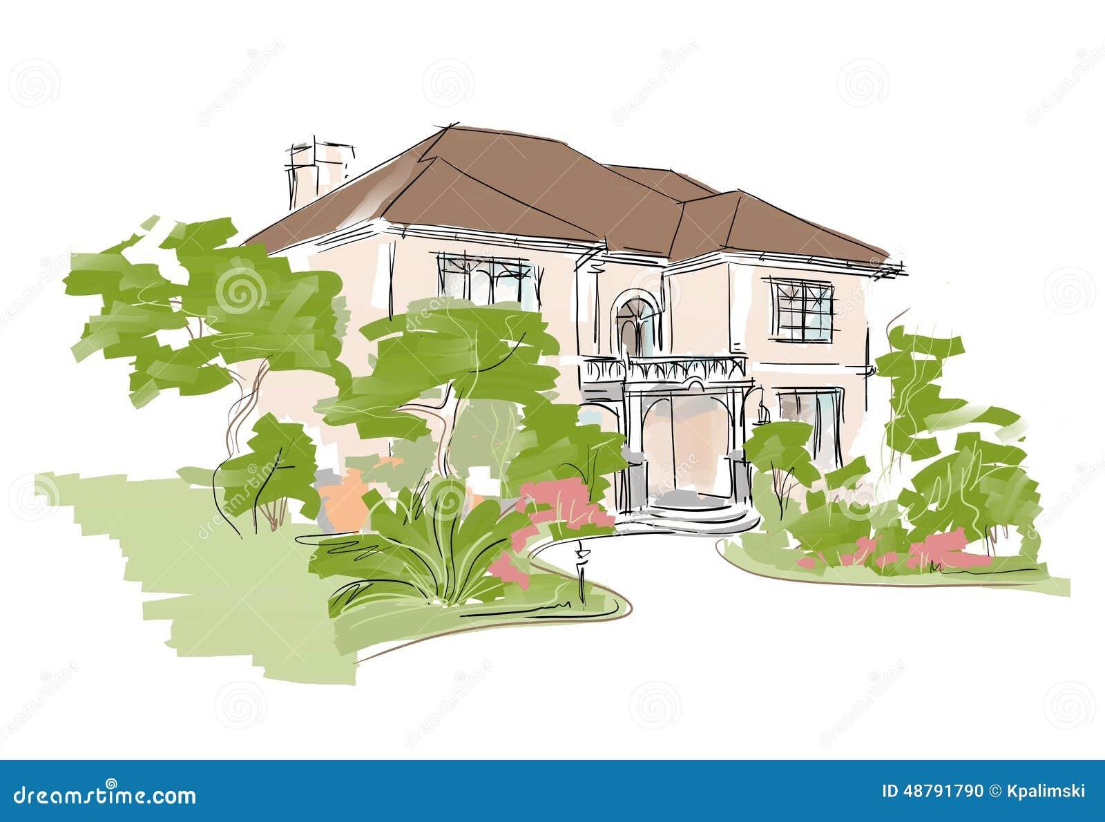 Dream House Stock Illustration Illustration Of Investment 48791790