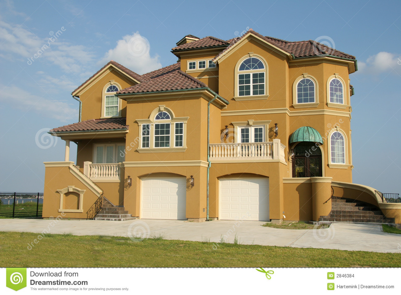 Dream House Mansion With View Stock Images Image 2846384