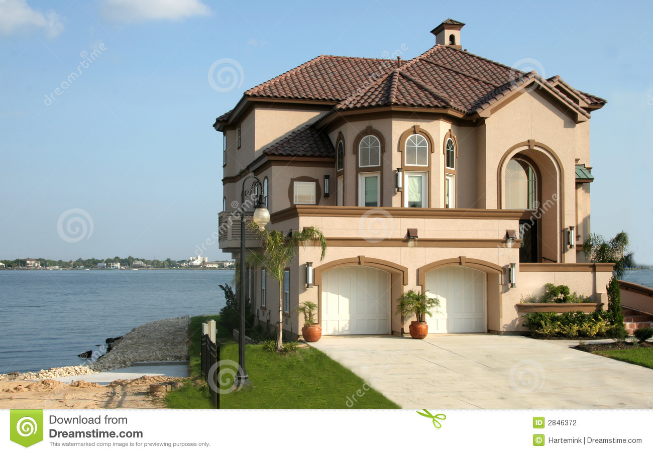 Easy To Draw Floor Plans Dream House Near The Lake Stock Photography Image 2846372