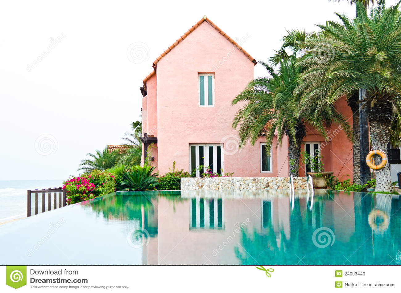 Pink Dream House With The Swimming Pool