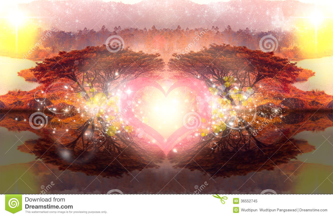Dream Imagine Heart Love 2 Tree Romantic Fantasy Bubble