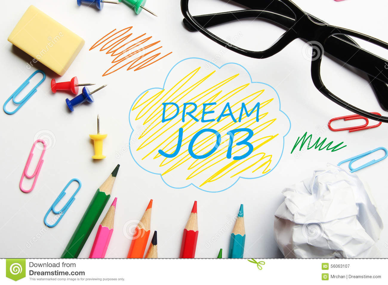 Dream Job Stock Photo Image 56063107