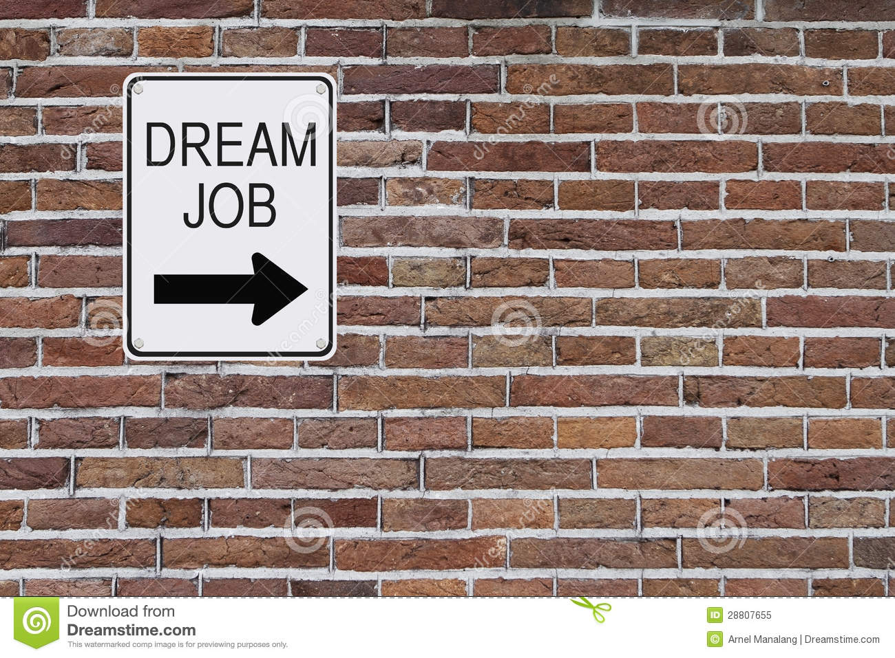 dream job sign royalty stock photo image  dream job sign